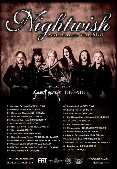 Tournée Nightwish Amérique du Nord 2016